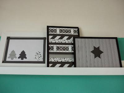 DIY Bild mit Maskingtape Washitape Weihnachtsmotive