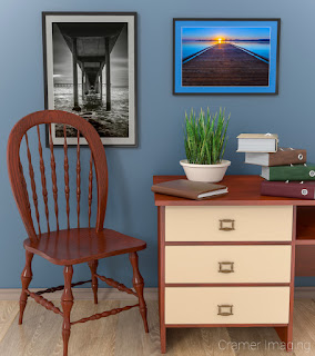 Photograph of Cramer Imaging's San Diego Pier and Gone Fishing in an office setting