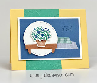Stampin' Up! Welcoming Window Sweet Friend Card ~ January-June 2021 Mini Catalog ~ www.juliedavison.com