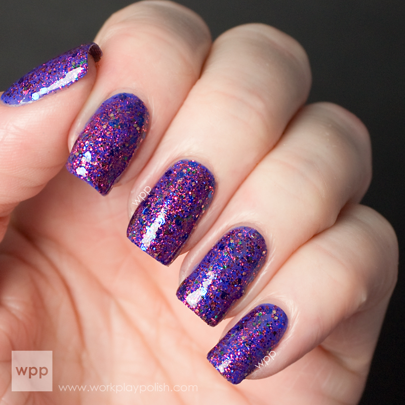 Hard Candy Glitter Jam over Essie Butler Please
