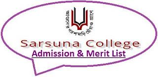 Sarsuna College Merit List