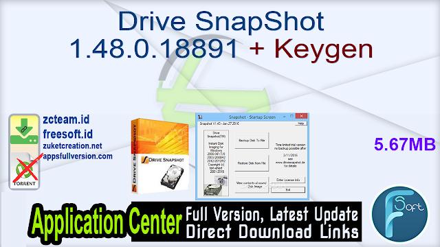 Drive SnapShot 1.48.0.18891 + Keygen_ ZcTeam.id