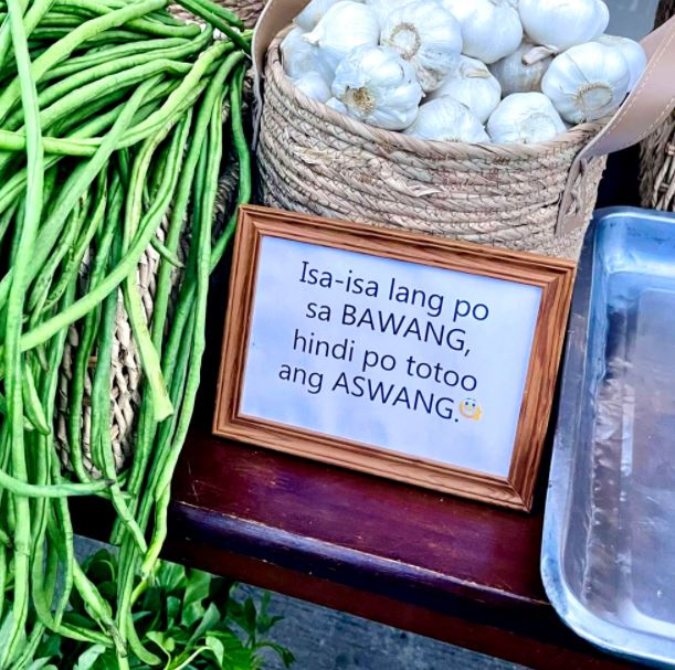 Witty community pantry signages