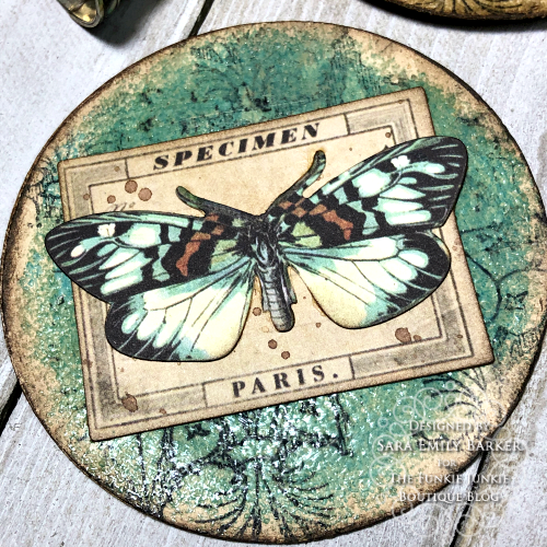 Sara Emily Barker https://sarascloset1.blogspot.com/2020/03/artist-trading-coins-with-tim-holtz.html ATC's Field Notes Distress Embossing Glazes 2