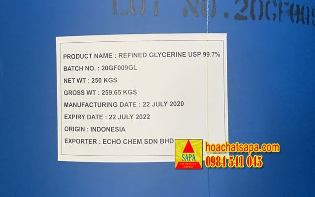Refined Glycerine 99,7% (indonesia)
