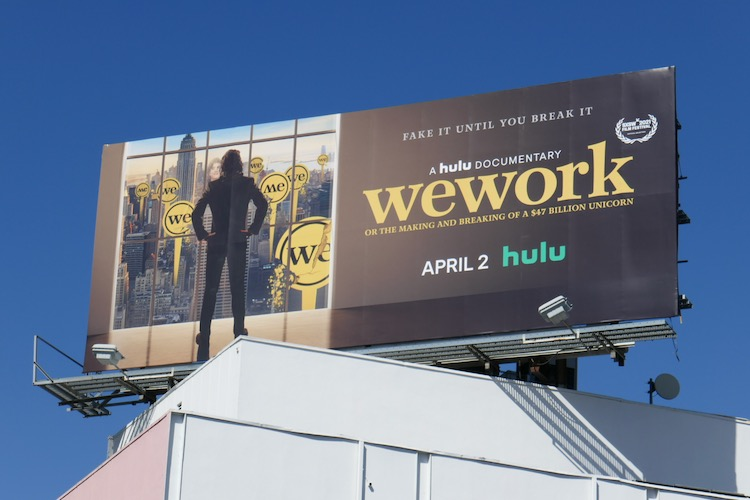 WeWork Hulu documentary billboard