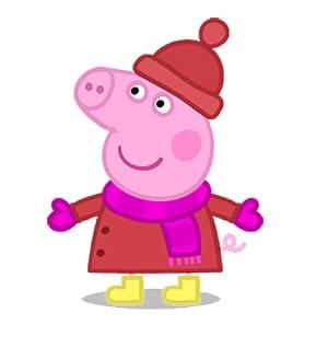 Peppa pig en invierno