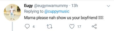 Fan tells DJ Cuppy to show her boyfriend