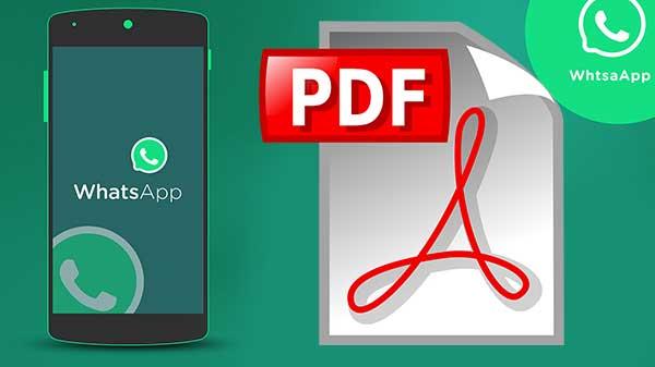 كيفية حفظ محادتاث واتساب  بصيغة pdf لأي شخص على هاتفك