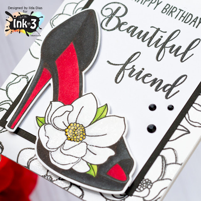 Heels to You Birthday Card for Ink On 3 by ilovedoingallthingscrafty.com