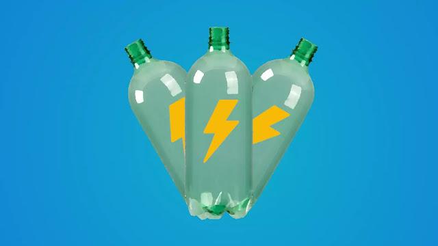 gerar eletricidade do plástico
