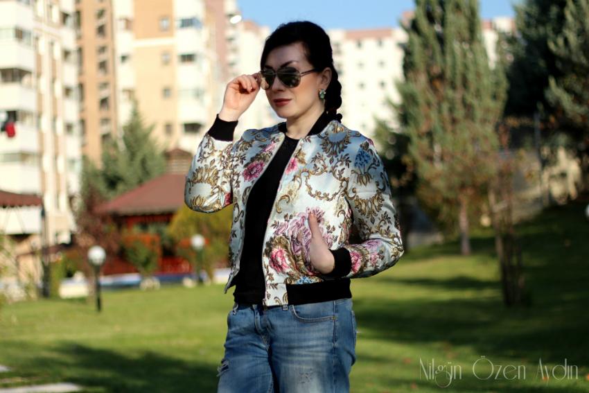 alışveriş-Vintage Desenli Bomber Ceket-moda blogu-kadın blogu