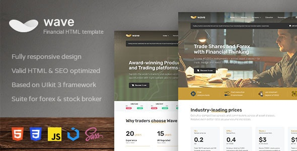 Wave Finance and Investment HTML Template