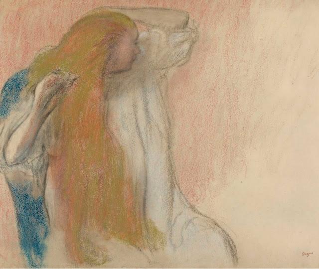 Эдгар Дега - Женщина, расчёсывающая волосы (1894)