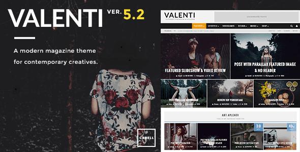 قالب ڨالنتي Valenti