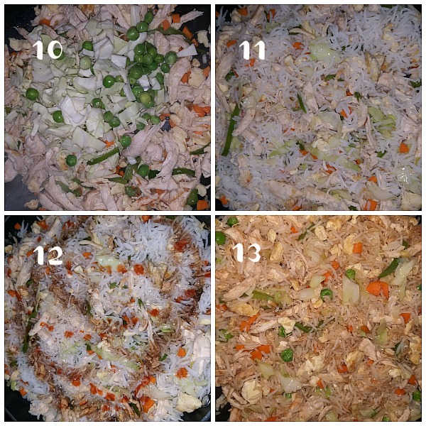 steps to make better than takeout chicken fried rice