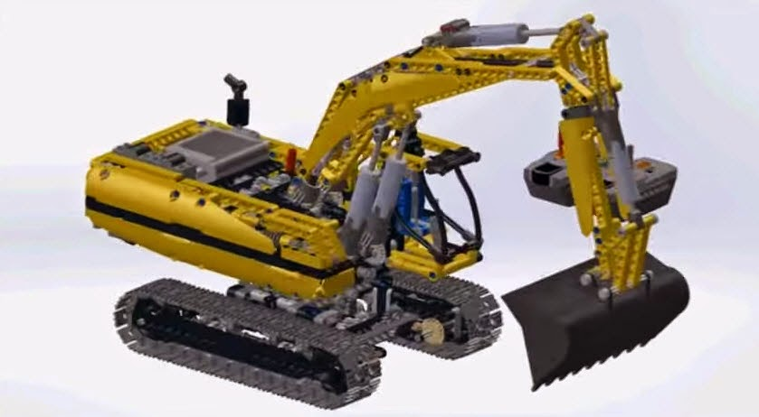 Video A Solidworks Assembly 3D Animation of Lego Technic ...