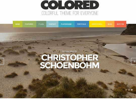Colored - Responsive Photo & Portfolio theme