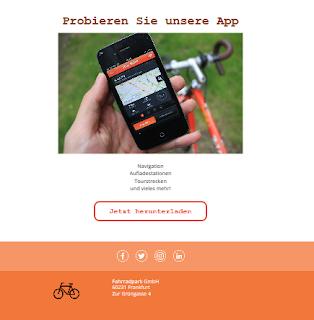 Fahrradpark  Phishing E-Mail