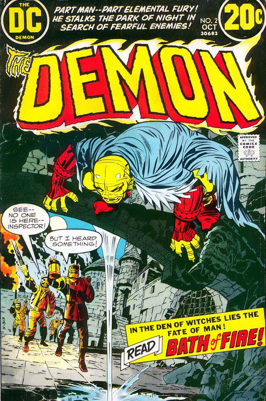 Demon v1 #2 dc bronze age comic book cover art by Jack Kirby