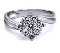 Cincin tunangan berlian wanita dr001557