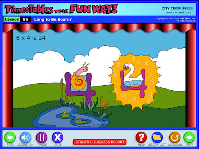 A review of the Times Alive online lessons for learning multiplication facts in a fun way.