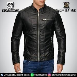Jual Jaket Kulit Asli Garut Pria Domba Original Brida Leather B81 | WA 08813430588