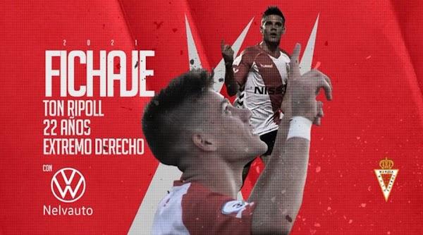 Oficial: Real Murcia, firma Ton Ripoll