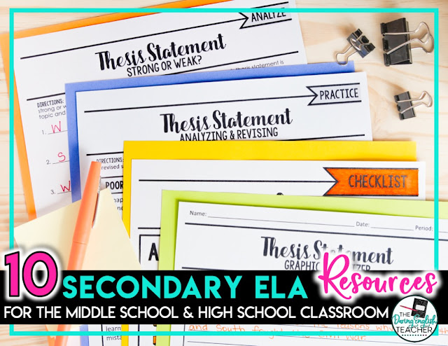 10 Secondary ELA Lessons for Your Classroom