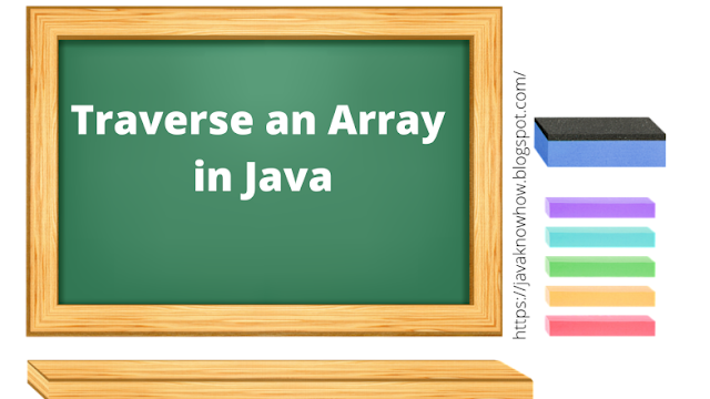 Traverse an Array in Java - Iterating over Arrays in Java