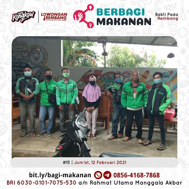 Dokumentasi Berbagi Makanan Ke-15 Dari Kedai Kongkow Rembang Dan Lowongan Rembang