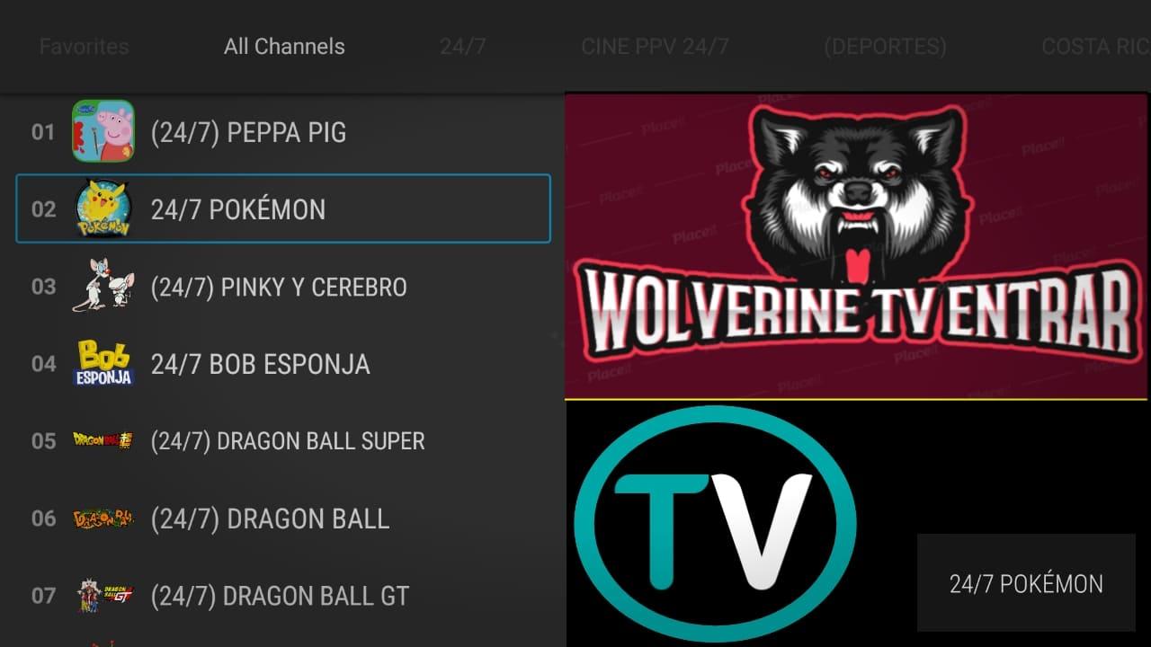 الاول في امريكا لمشاهدة قنواتها والقنوات اللاتينية مجانا-WOLVERINE TV