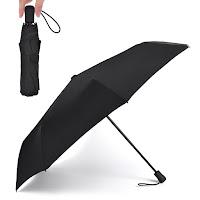 折り畳み傘 超軽量 重さ240g Teflon認証 超吸水カバー付き 晴雨兼用 116cm 大判 無地 傘テフロン ブラック U-240 BL-WB TAIKUU