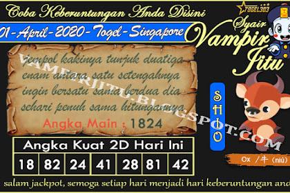 Syair Vampir Jitu Togel SGP Rabu 01 April 2020