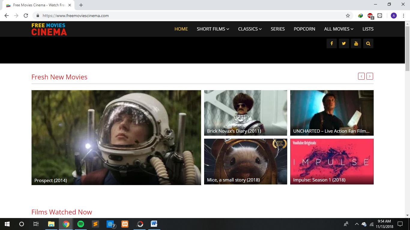 Situs/Website legal nonton film