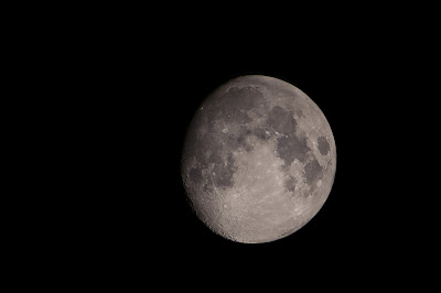 Moon at Prime Focus with Canon Rebel XT on Meade Refractor