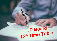 up board 12th time table 2019 upmsp intermediate exam date sheet pdf