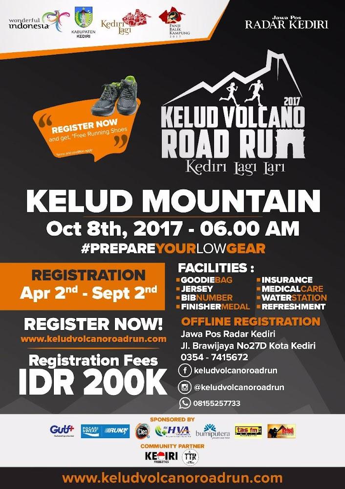 Kelud Volcano Road Run • 2017 Poster