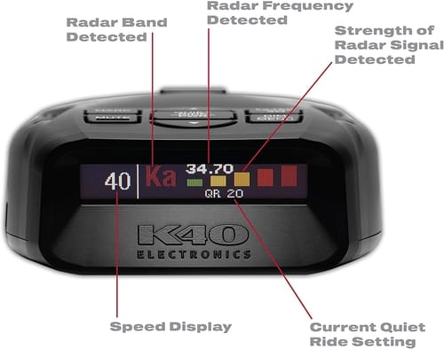 Review K40 Electronics Platinum100 Radar Laser Detector