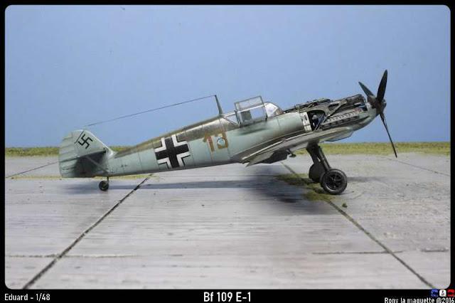 Maquette du Bf 109 E-1 d'Eduard au 1/48.