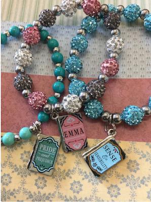 Jane Austen Bracelet Set