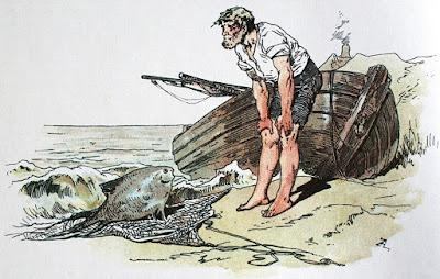 Εικονογράφηση του Alexander Zick για τον Ψαρά και τη Γυναίκα του, των Αδερφών Γκριμ