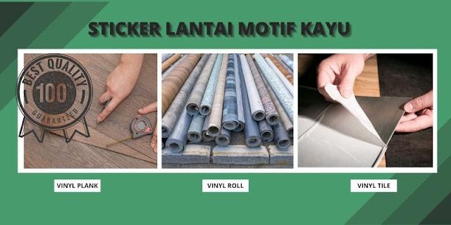 sticker lantai motif kayu
