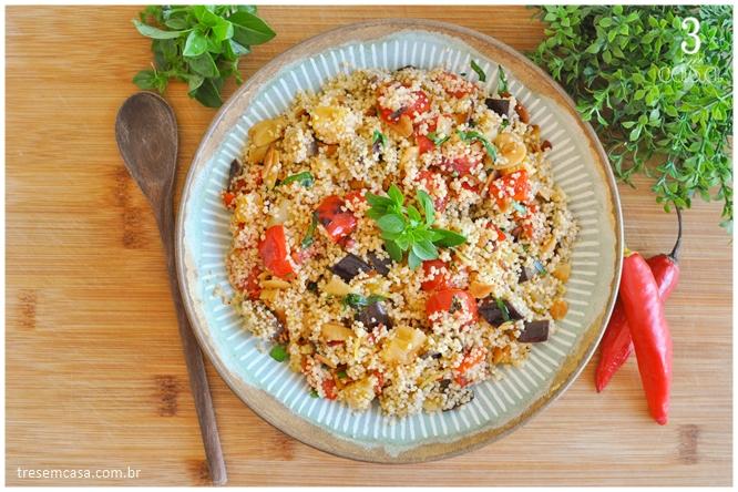 cuscuz marroquino com legumes receita