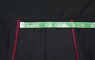 TNG season 2 admiral uniform - trousers trim