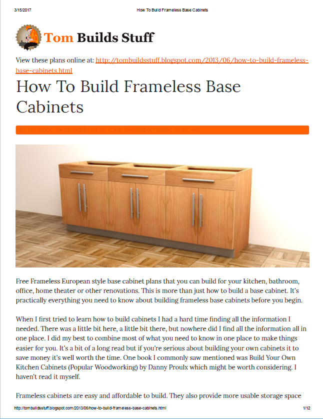 Awesome If Youu0027d Like To Help Support The Site You Can Purchase A Printable PDF Of  This Article For Only $4.95. Frameless Cabinets ...