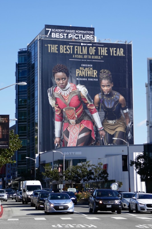 Black Panther Academy Award nominee billboard