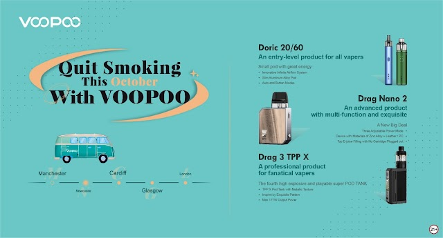 Quit Smoking With VOOPOO This October, Backing Vaping