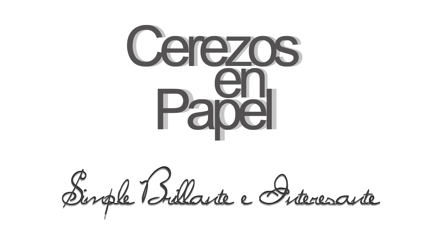 Cerezos en papel