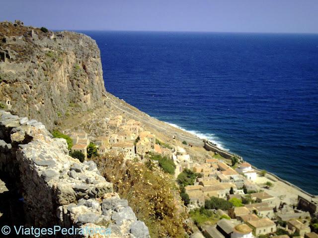 Monemvasia, Peloponès, Grècia, ciutats medievals emmurallades